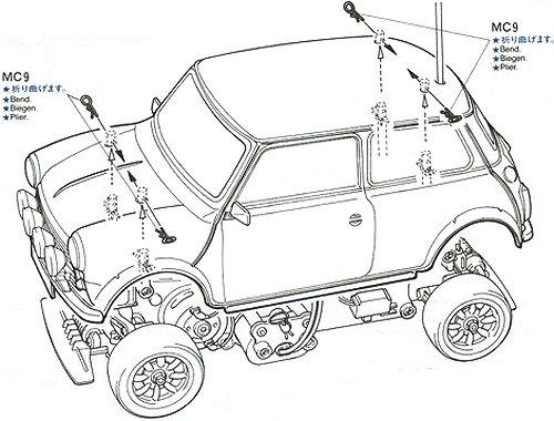 58163 • Tamiya Rover Mini Cooper 94 Monte Carlo • M-01