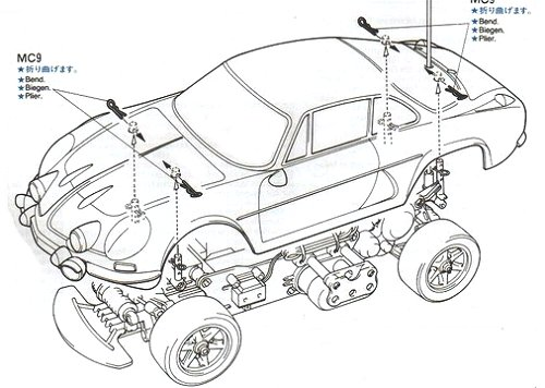 C Body Kit M Chassis Tamiya 50688 for Alpine A110