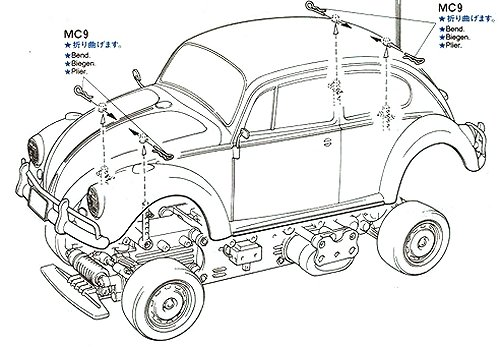 58173 • Tamiya Volkswagen Beetle • M-02L • RCScrapyard