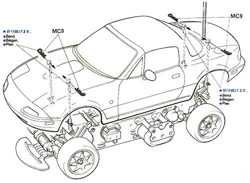 58180 • Tamiya Eunos Roadster • M-02M • RCScrapyard