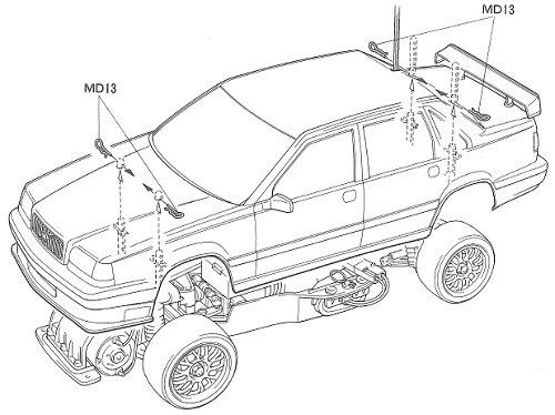 58183 • Tamiya Volvo 850 BTCC • FF-01 • (Radio Controlled