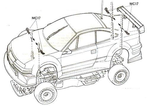58188 • Tamiya Opel Calibra Cliff • TA-03F • RCScrapyard