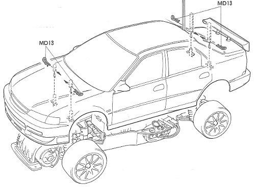 58190 • Tamiya JACCS Honda Accord • FF-01 • (Radio