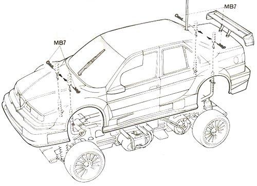 58195 • Tamiya Alfa Romeo 155 V6 TI BOSCH • TL-01 • (Radio