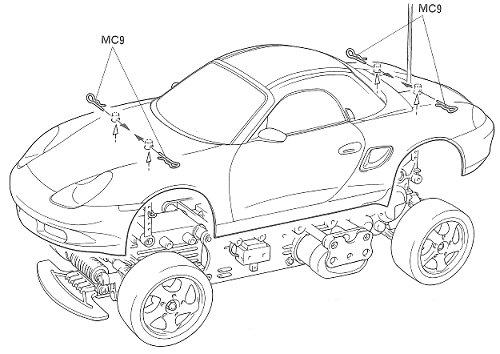 58197 • Tamiya Porsche Boxster • M-02L • (Radio Controlled