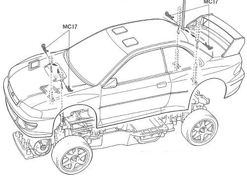 58210 • Tamiya Subaru Impreza WRC 97 • TA-03F • (Radio