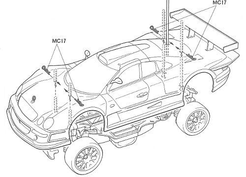 58214 • Tamiya Mercedes CLK GTR • TA-03R • (Radio