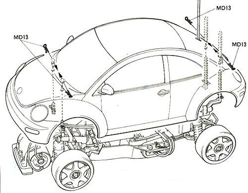 58217 • Tamiya Volkswagen New Beetle • FF-01 • (Radio