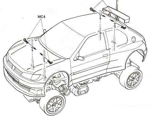 58224 • Tamiya Peugeot 306 Maxi WRC • FF-02 • (Radio