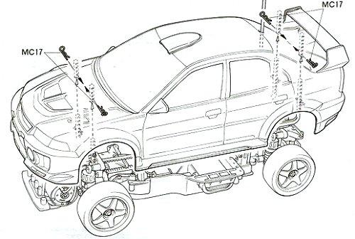 58225 • Tamiya Mitsubishi Lancer Evolution V WRC • TA-03F