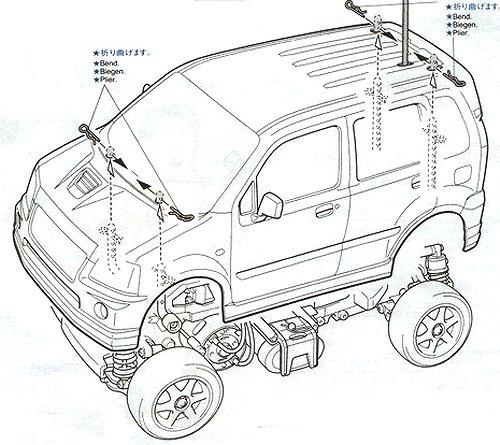 58234 • Tamiya Suzuki WagonR RR • M-03 • (Radio Controlled