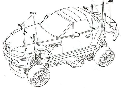 58240 • Tamiya BMW M Roadster • M-04L • (Funkgesteuertes