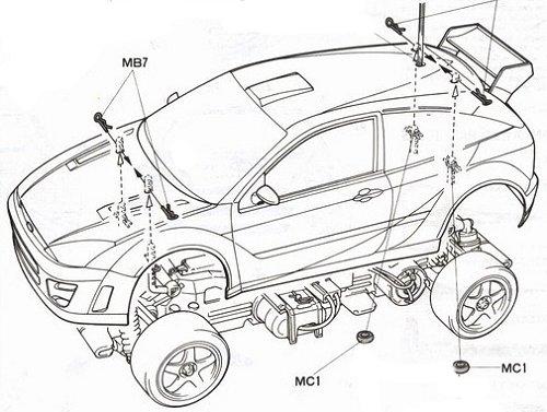 58241 • Tamiya Ford Focus WRC • TL-01 • (Radio Controlled