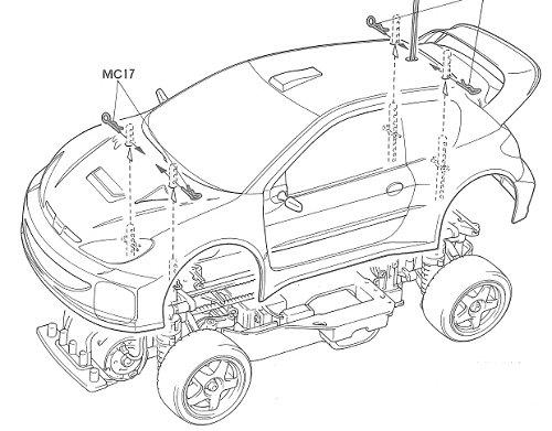 58250 • Tamiya Peugeot 206 WRC • TA-03FS • (Radio