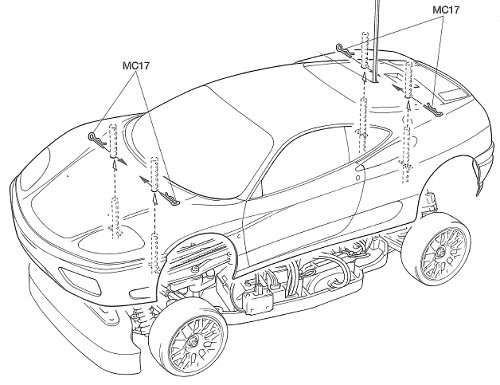 Tamiya Ferrari 360 Modena Challenge #58266 TA-04 • RC
