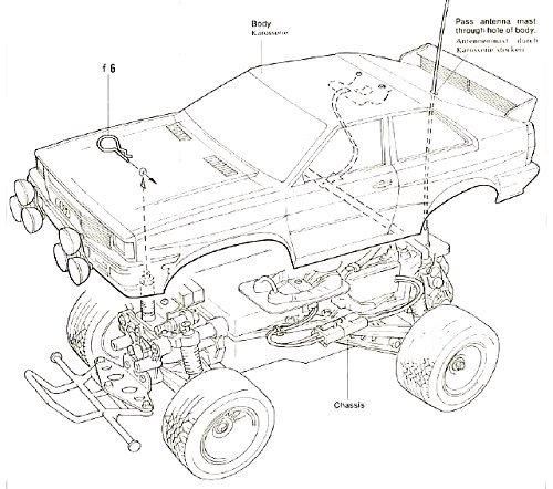 58036 • Tamiya Audi Quattro Rally • • (Radio Controlled