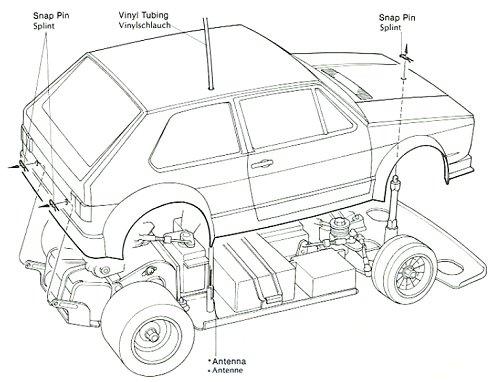 58025 • Tamiya VW Golf Racing Group 2 (CS) • (Radio