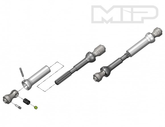 MIP Spline CVD Center Driveshaft kits for Axial SCX10 and