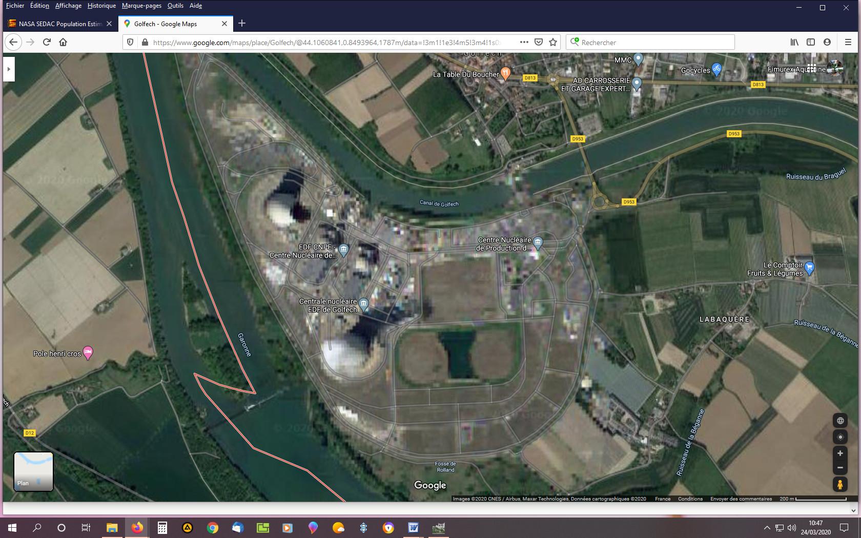 Centrale de Gofech vue Google