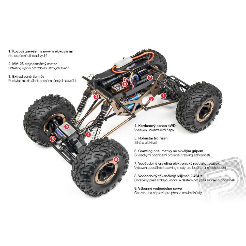 Scout Rock Crawler RTR s 2,4GHz RC súpravou (verzia 2017)