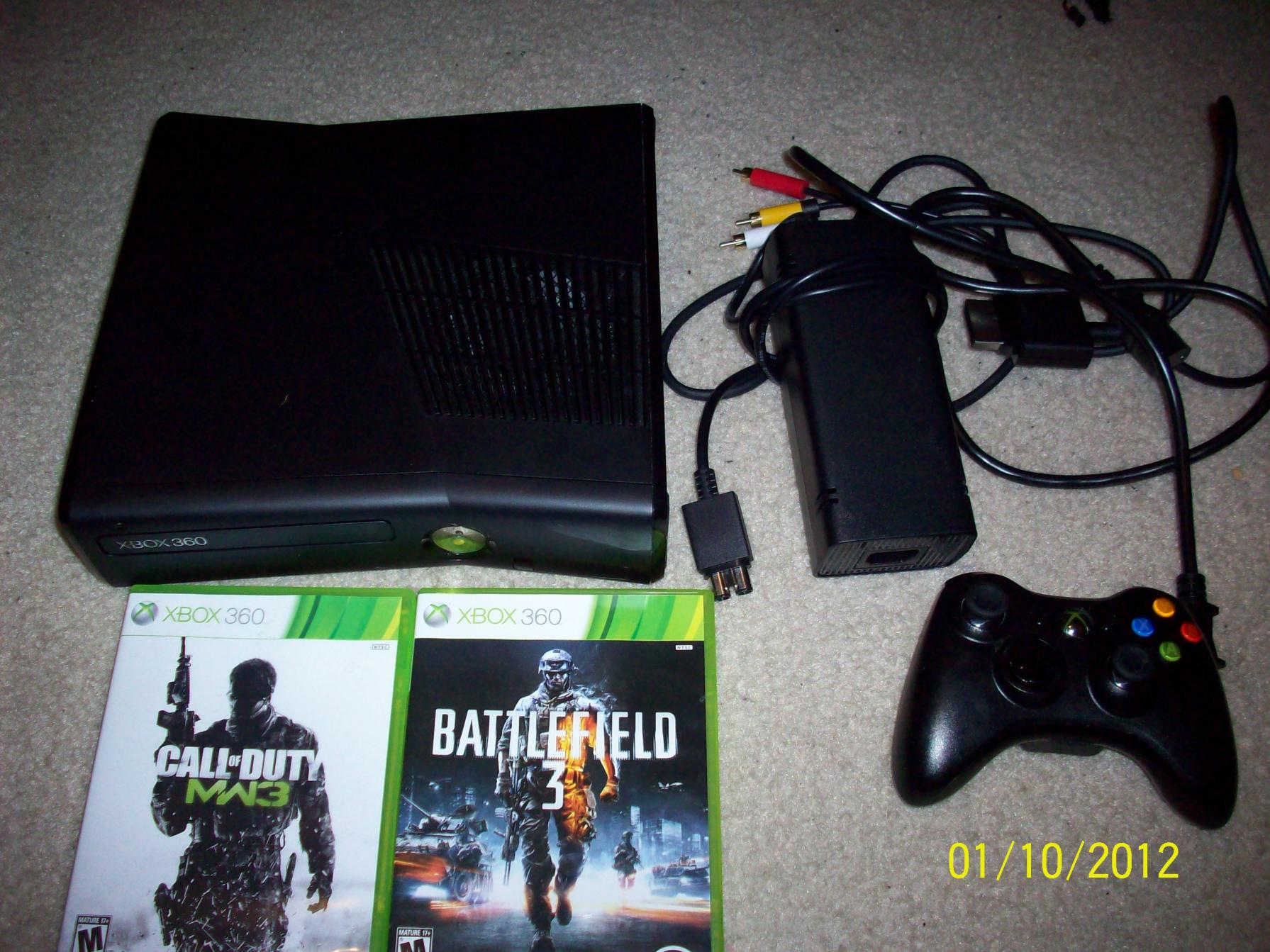 Xbox 360 slim 4gb with mw3 and battlefield 3  RC Tech Forums