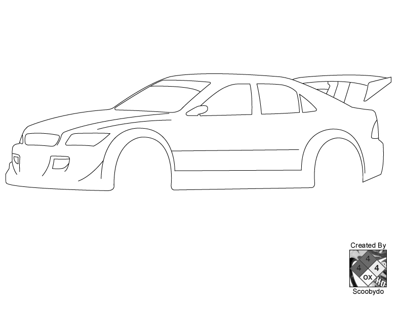 Mazda Rx 7 Blueprint Sketch Coloring Page