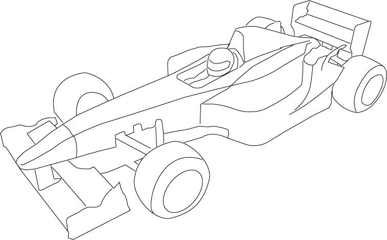 Kleurplaat Race Auto Blueprint • Kidkleurplaat.nl