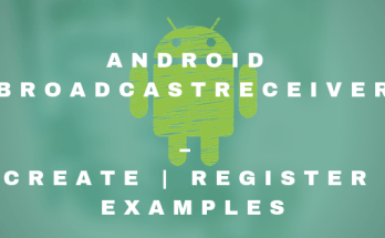 Android BroadcastReceiver – Create-Register examples