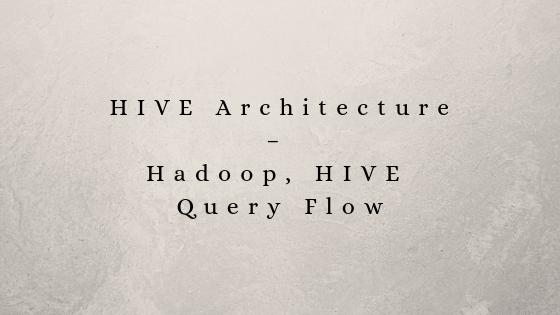 HIVE Architecture - Hadoop, HIVE Query Flow | RCV Academy