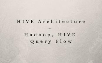 HIVE Architecture – Hadoop, HIVE Query Flow