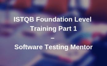 ISTQB Foundation Level Training Video - Part 1