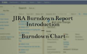 JIRA Burndown Report Introduction - Burndown Chart