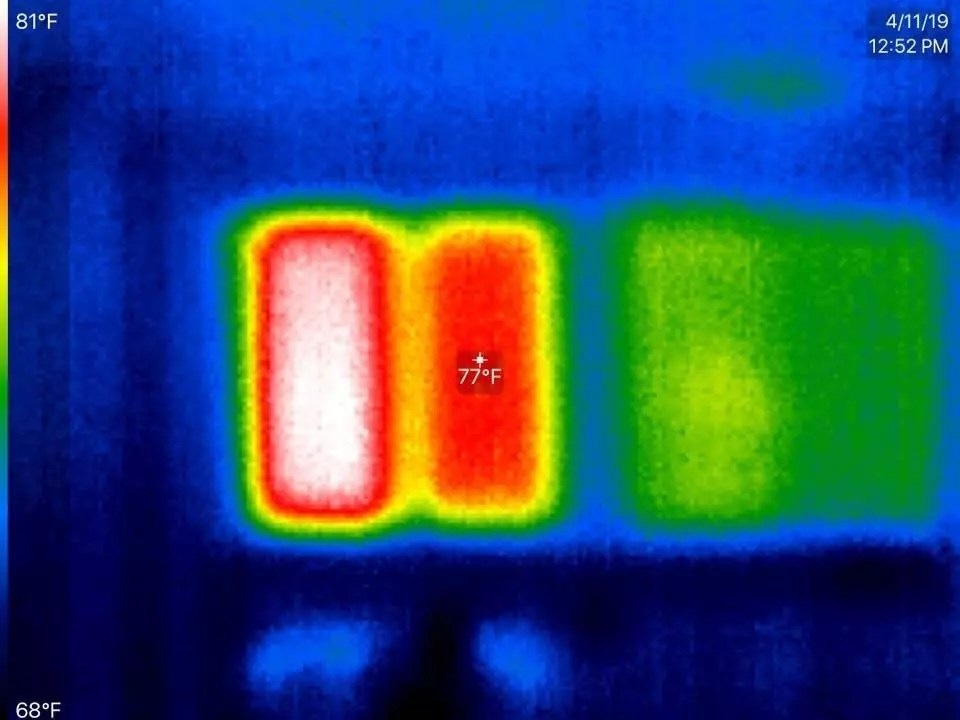 Thermal heat rejection with an inferred camera in murrieta ca by RC Window films