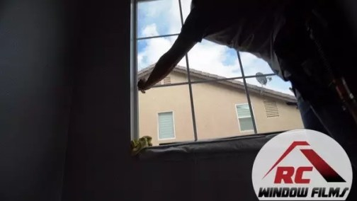 Application of security window film