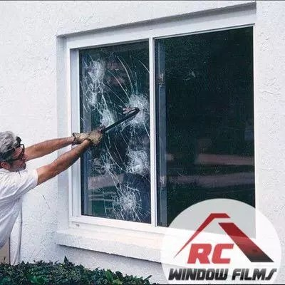 demonstration the strength of security window film