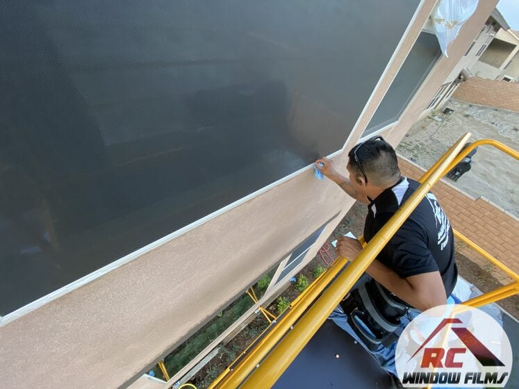 black and black turf shield window film