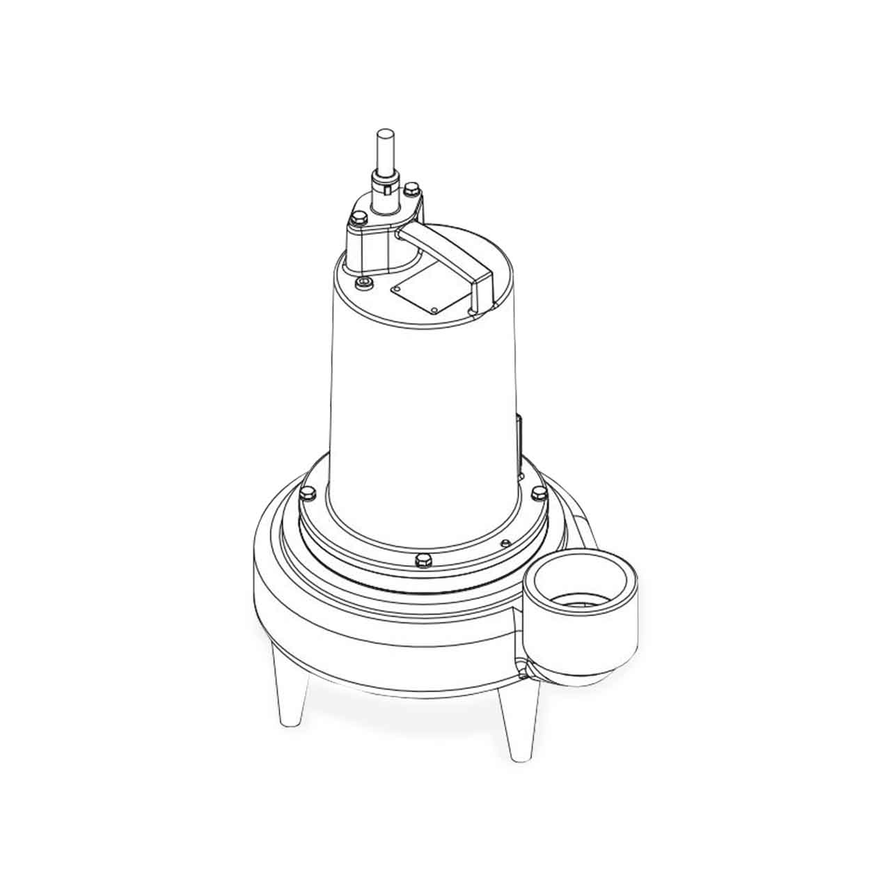 hight resolution of barnes barnes 3se1594l submersible sewage ejector pump 1 5 hp 200 230v 3ph 30 cord manual brn132730