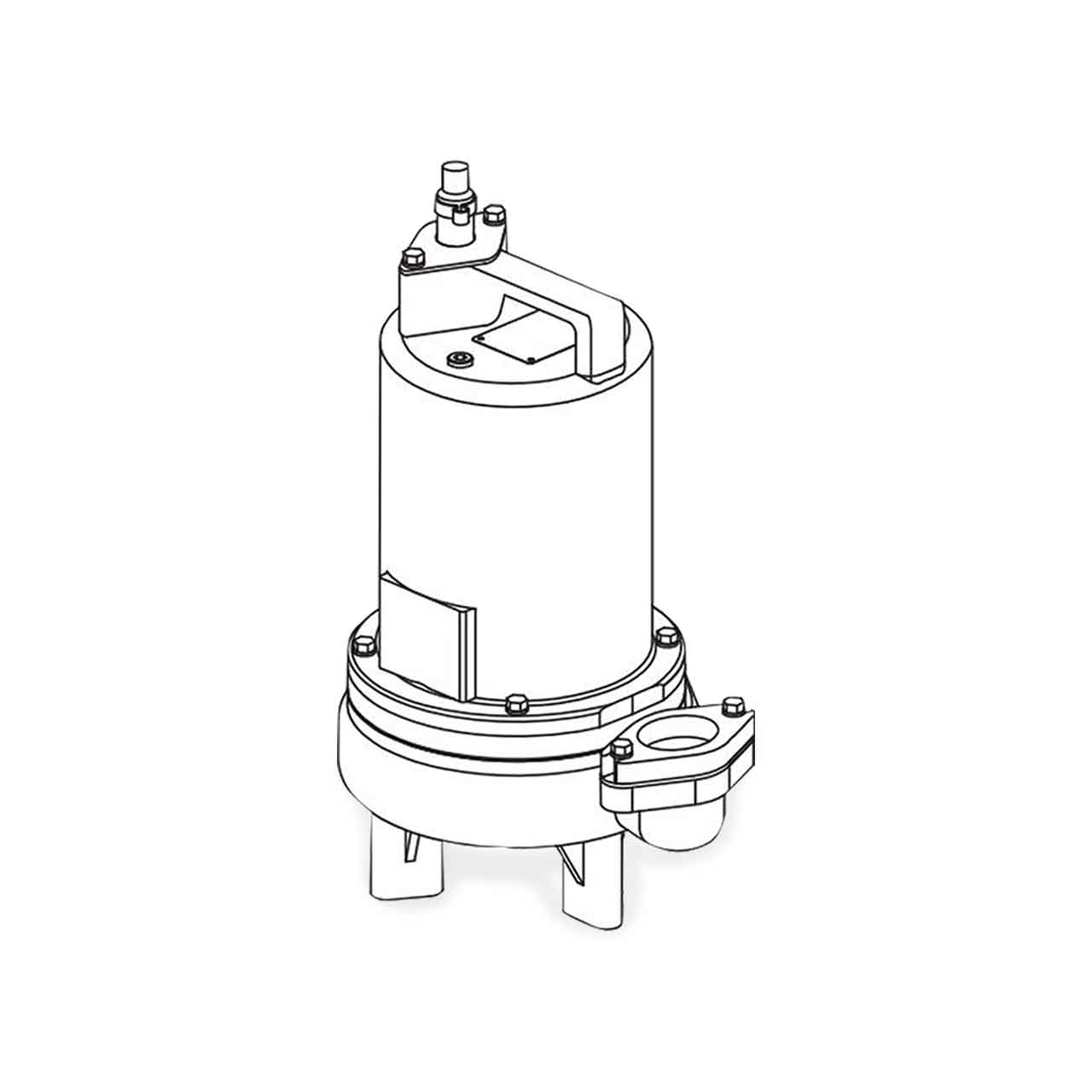 hight resolution of barnes barnes 2sev1044l submersible sewage ejector pump 1 0 hp 460v 3ph 20 cord manual brn104938