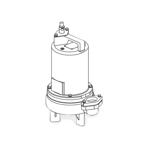 small resolution of barnes barnes 2sev1044l submersible sewage ejector pump 1 0 hp 460v 3ph 20 cord manual brn104938