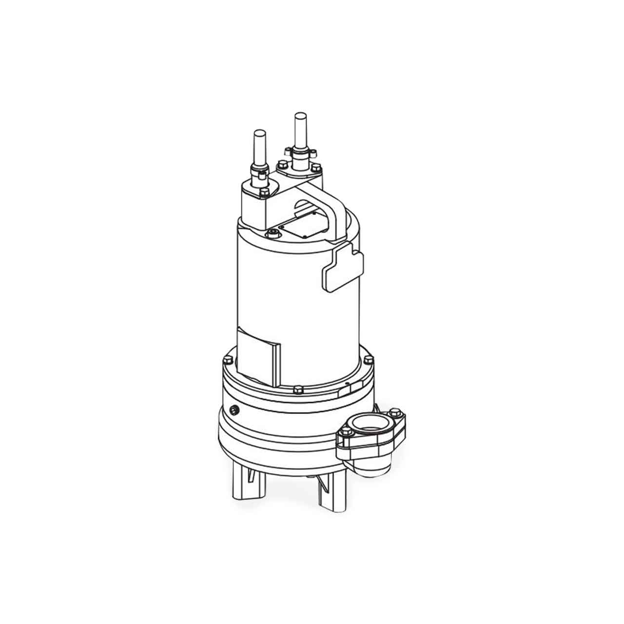 hight resolution of barnes barnes 2sev2052ds submersible double seal sewage ejector pump 2 0 hp 575v 3ph 20 cord manual brn107921
