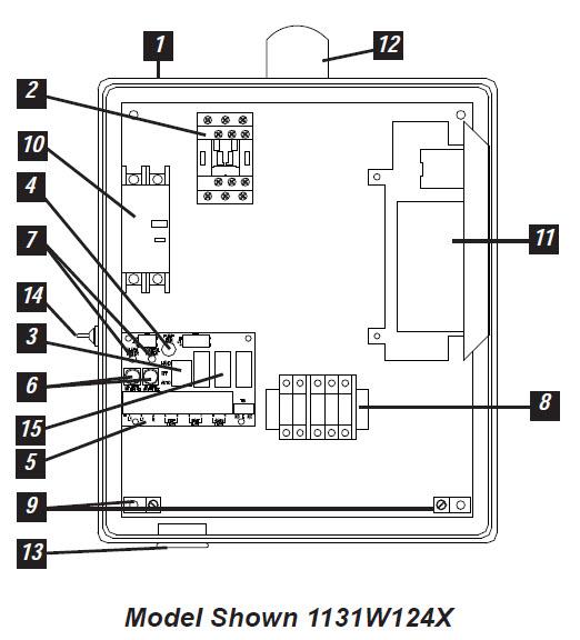 hoa wiring diagram leviton single pole switch with pilot light sje rhombus - sje-rhombus model 113 simplex phase capacitor start/run pump control panel ...