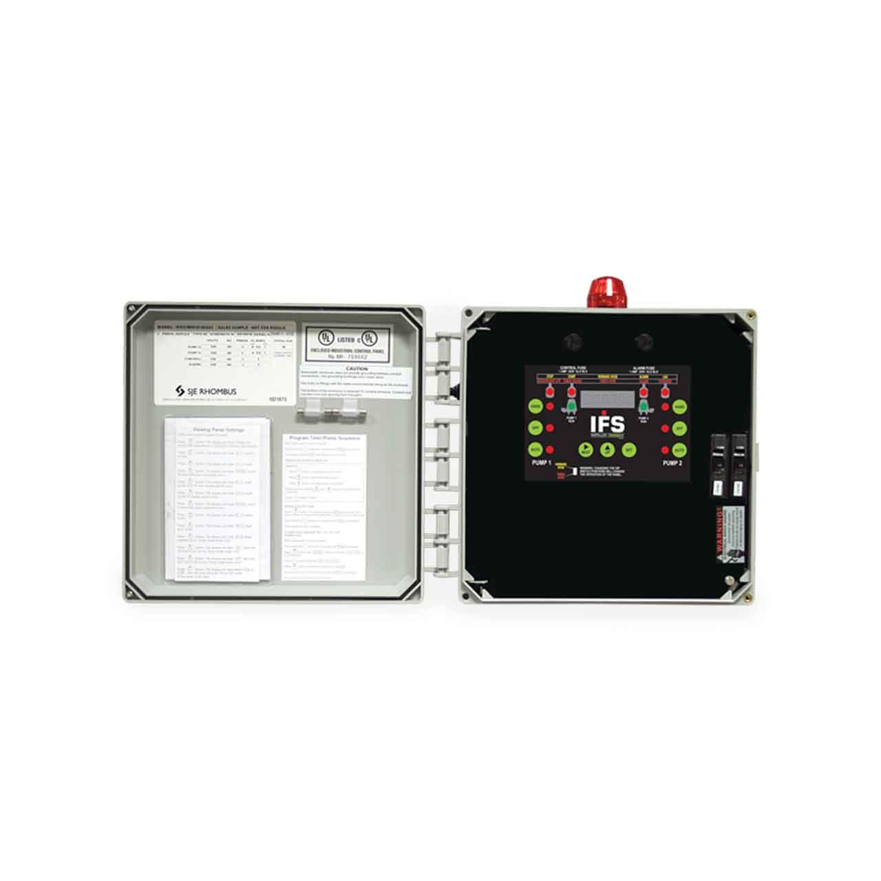 hight resolution of sje rhombus sje rhombus model ifs single phase 120 208 240v duplex control panel cp sjeifsd