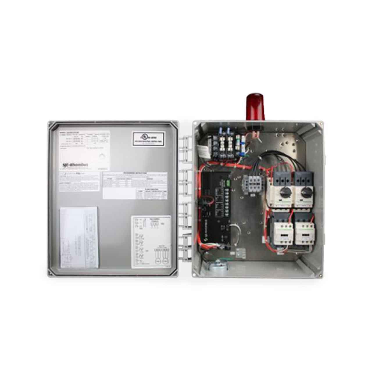 hight resolution of sje rhombus sje rhombus model 322 3 phase 208 240 480 600v duplex motor contactor control panel cp sje322