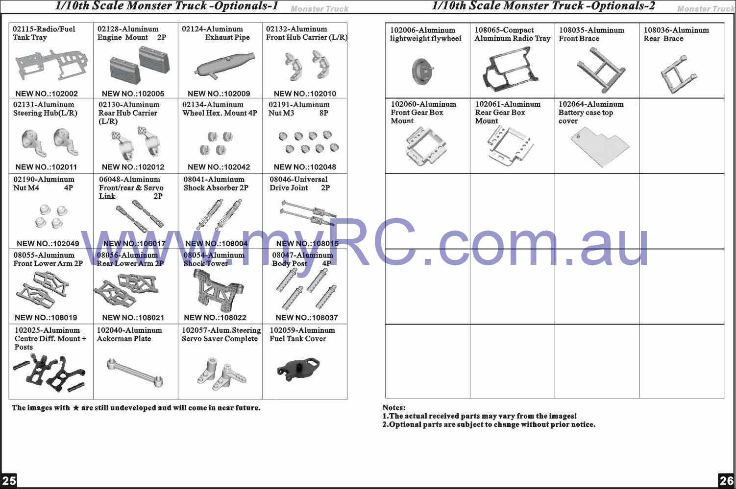 Himoto Hsp Nitro Monster Truck Parts List 7