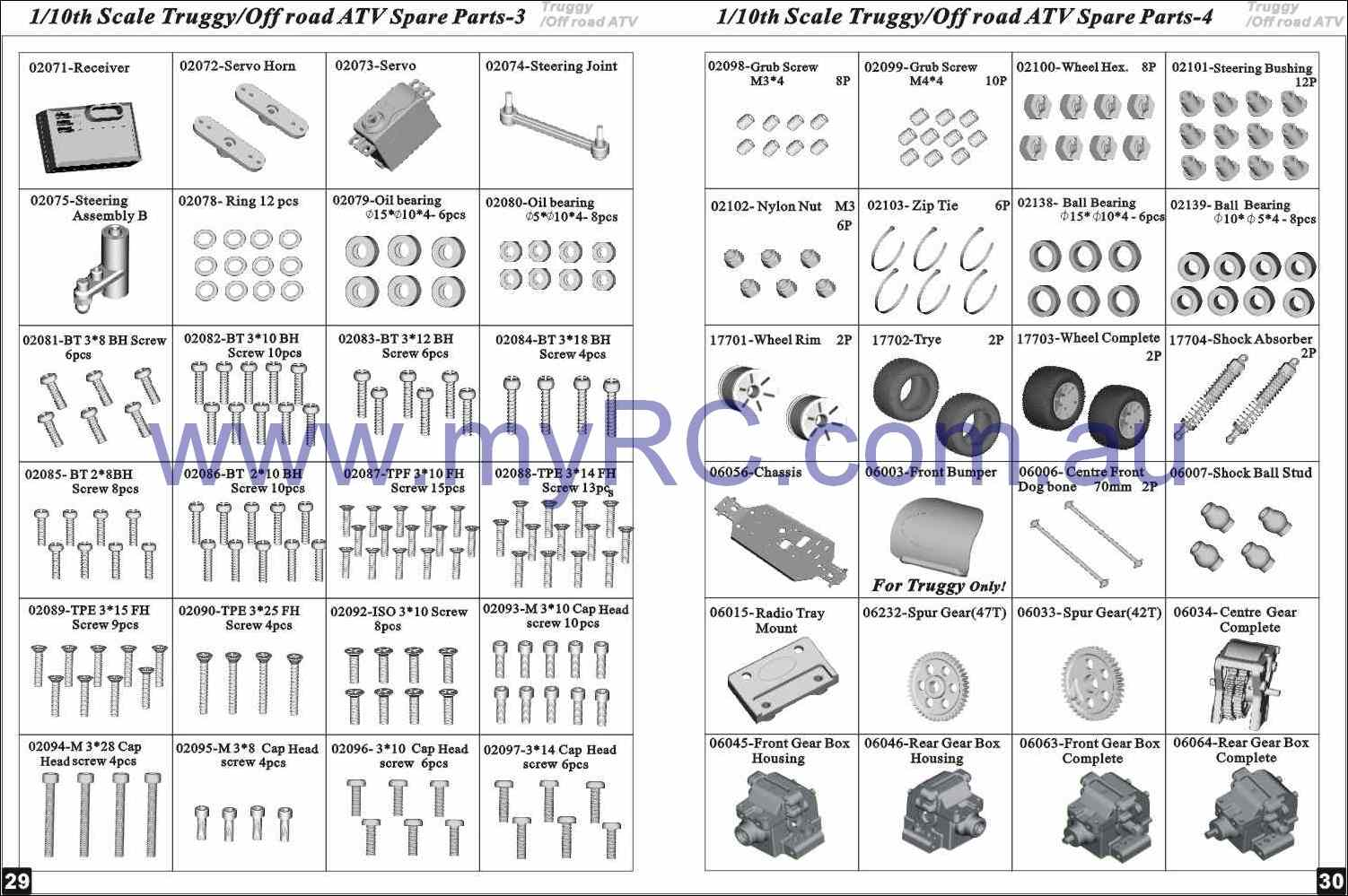 Himoto Hsp Nitro Monster Truck Parts List 9