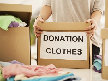 donation box of clothes