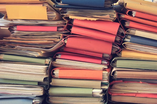 Organizing Paper Piles