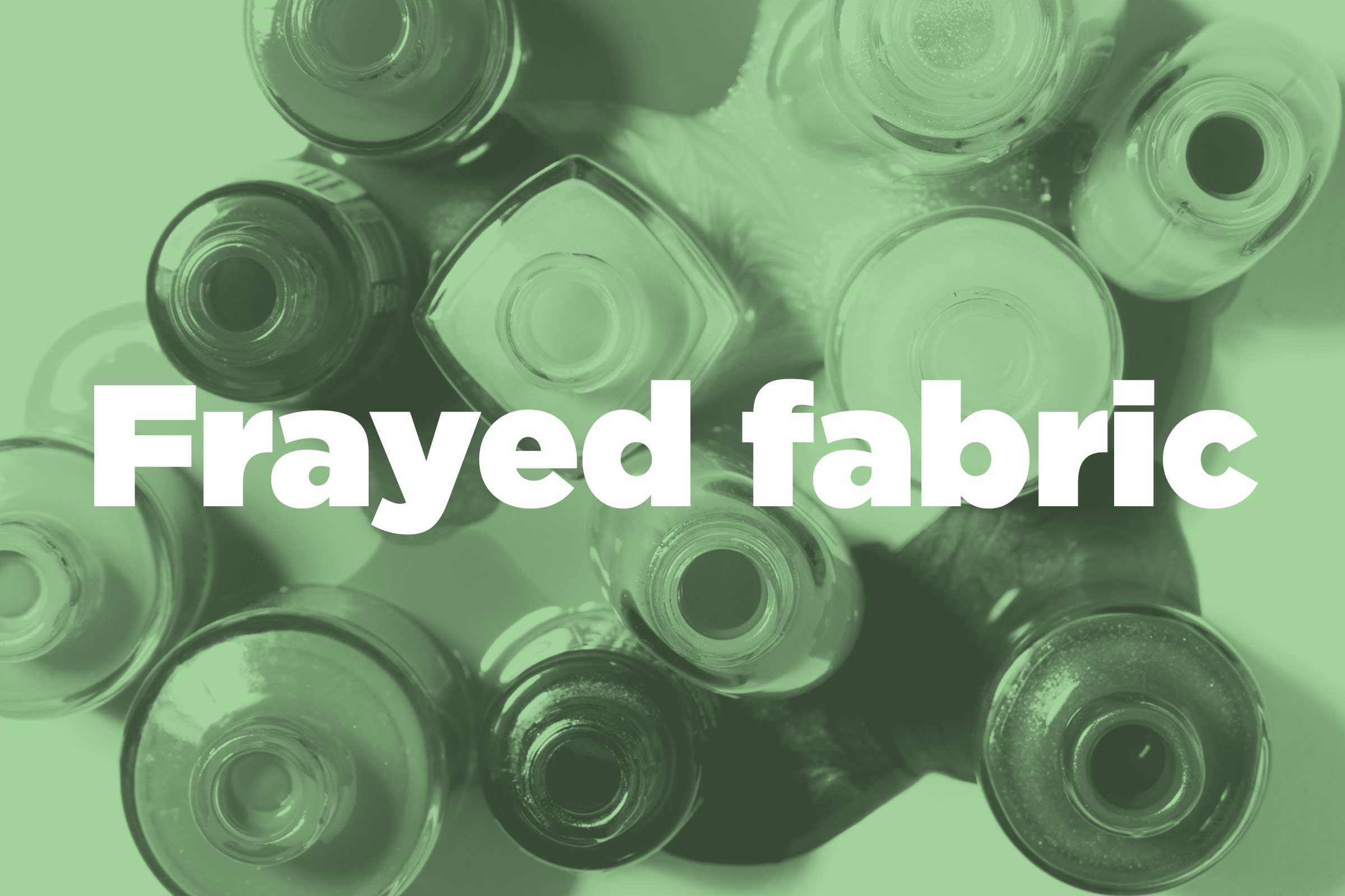 Prevent Frayed Fabric From Getting Worse