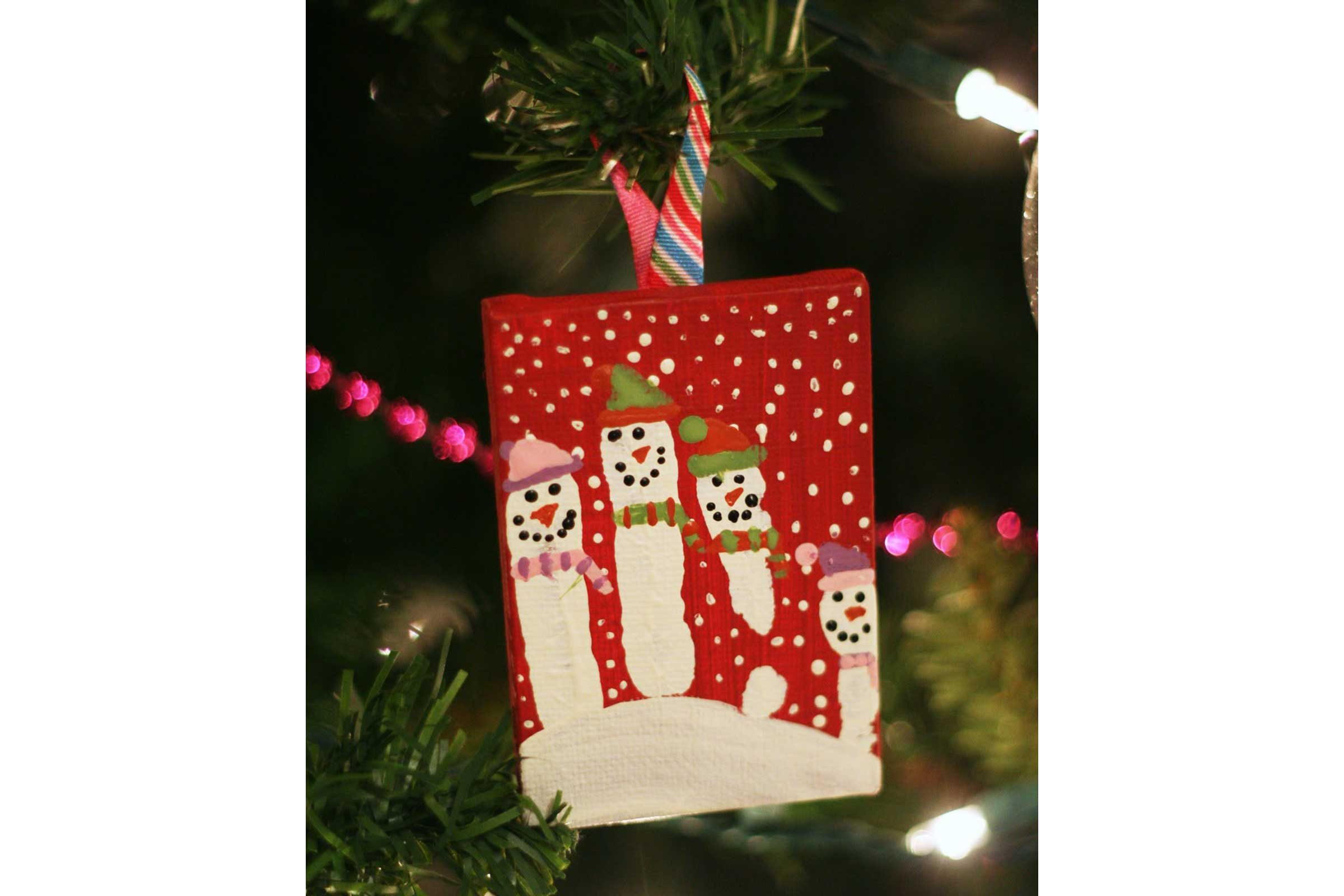 How To Make Handprint Christmas Ornaments