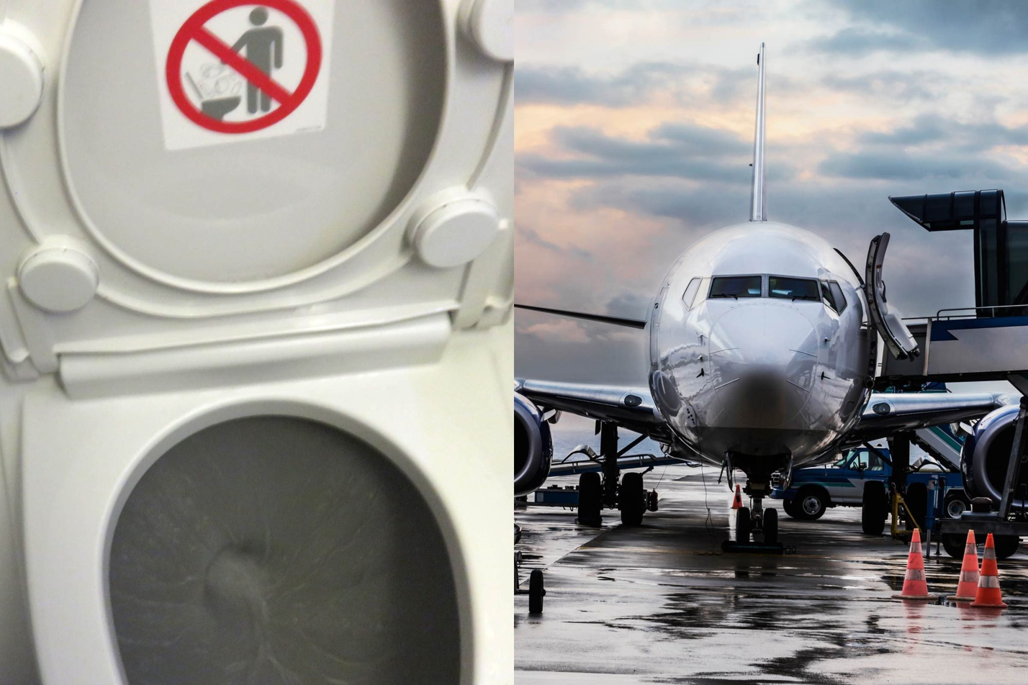hight resolution of what actually happens when you flush an airplane toilet